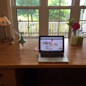 Shelley's desk